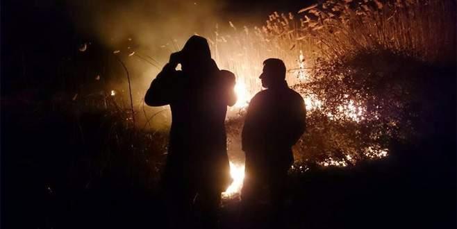 İznik Gölü sazlıklarında korkutan yangın