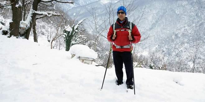 Bursalı görme engelli Necdet, '5 Maraton 5 Zirve' projesinin finalinde