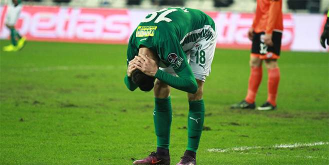 Bursaspor'dan 4 maçta 5 şut!
