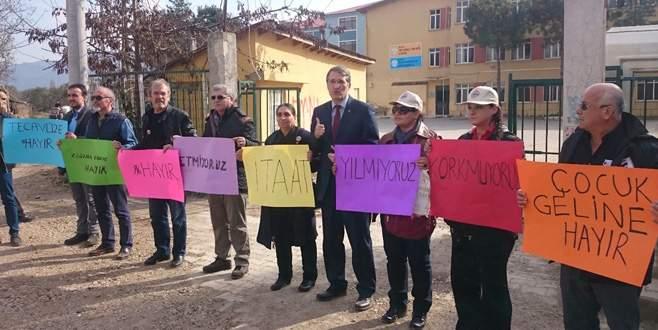 İrgil İznik'te yaşanan olayı protesto etti