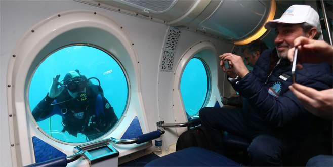 Turistik denizaltı heyecanı