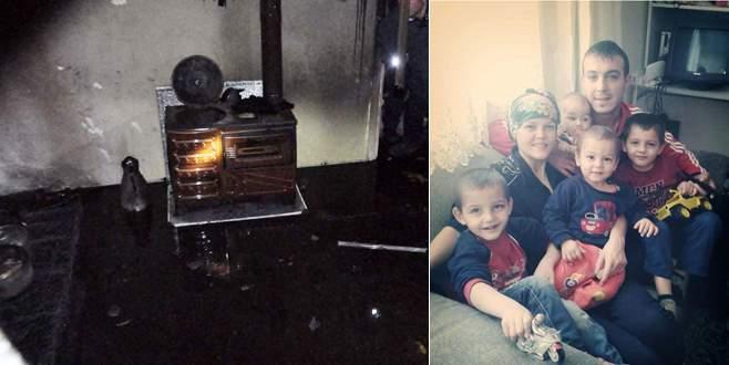 Yangında 15 aylık bebek yanarak can verdi