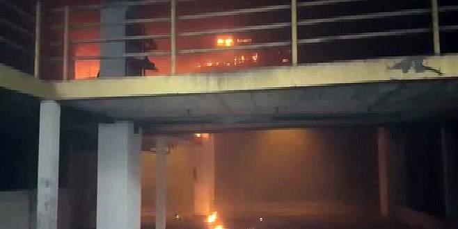 İstanbul otogarında yangın
