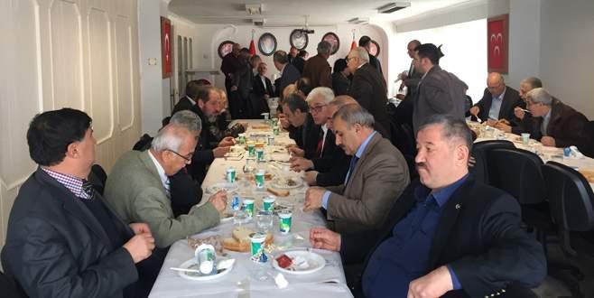 MHP'de eski yöneticilerle referandum toplantısı