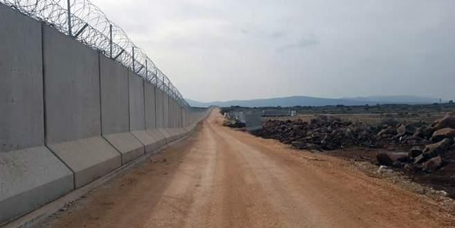 Sınıra inşa edilen güvenlik duvarının yarısı tamamlandı