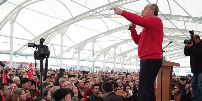 Muharrem İnce'den Bursa'da hayır mitingi