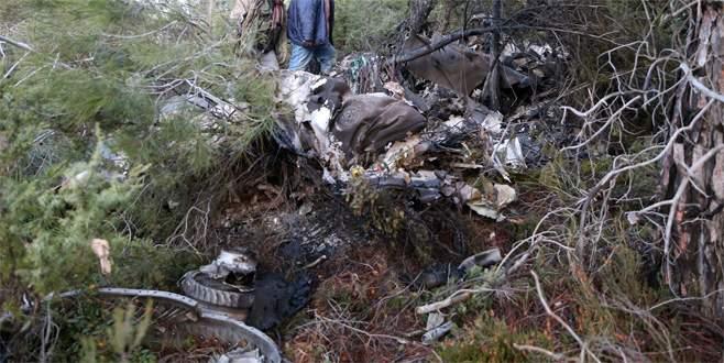 Düşen uçağın pilotu 40 kilometre güneyde bitkin halde bulundu