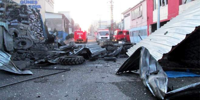 Gaziantep'te sanayi sitesinde patlama