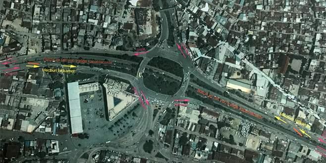 Kent Meydanı kavşağında trafik düzenlemesi