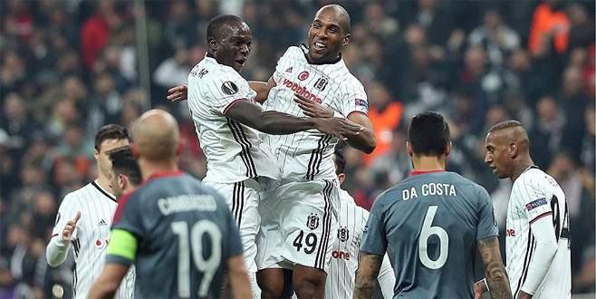 Beşiktaş UEFA Avrupa Ligi'nde çeyrek finalde