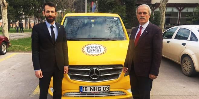 Başkan Altepe 'Evet Taksi' ile yollarda