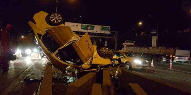 Feci kaza! İçindeki yolcularla takla attı: 1 ölü, 2 yaralı