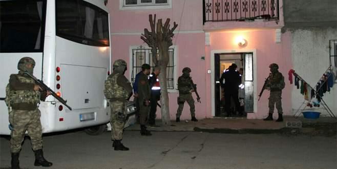 Bursa'da terör operasyonu: 3 gözaltı