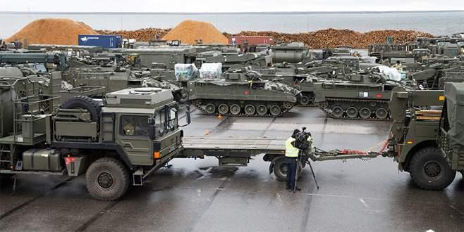 Estonya'ya büyük NATO yığınağı