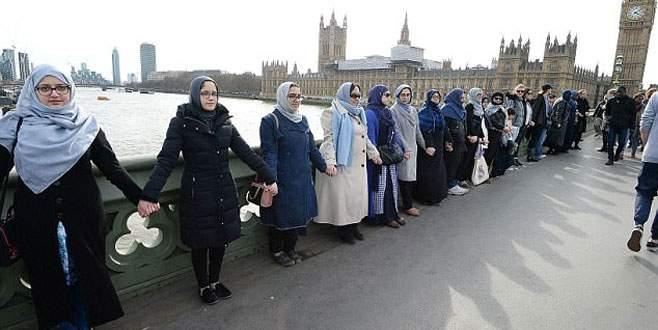 Müslüman kadınlardan dayanışma mesajı