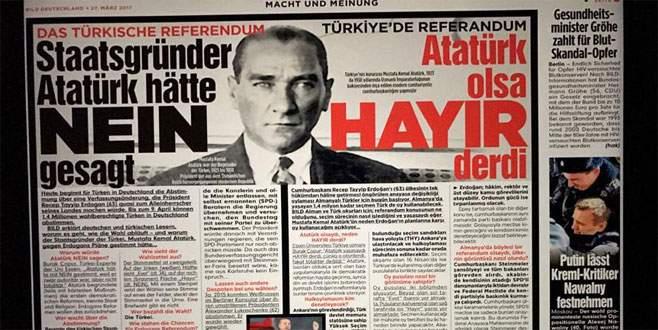 Bild gazetesinden 'Atatürk'lü hayır kampanyası'