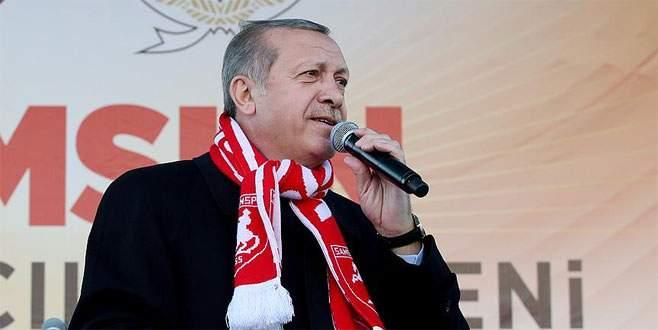 Erdoğan: 'Kıytırık pankart mı bizi yolumuzdan döndürecek'