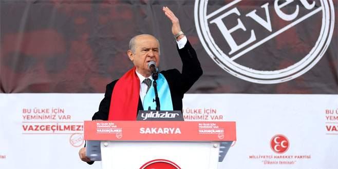 Bahçeli: 'Türk milleti Kürdistana izin vermeyecektir'