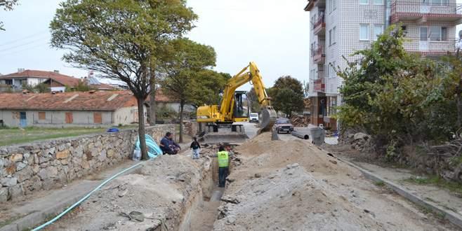 Büyükorhan'ın altyapısı yenileniyor