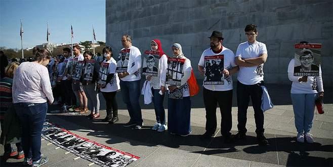 Washington'da 'sessiz' Sisi protestosu