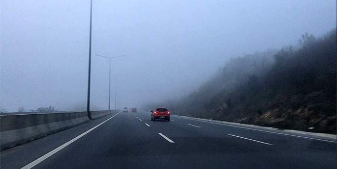 Bursa'da yoğun sis etkili oluyor