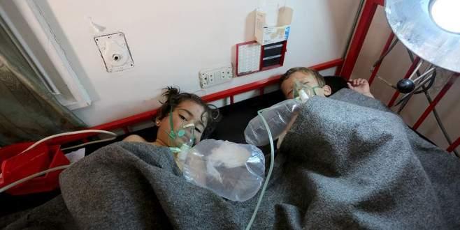 Esad rejimi çoğu çocuk 100 kişiyi kimyasal gazla öldürdü