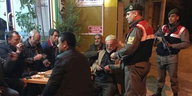 Jandarma Bursa'da 'huzur'u sağladı