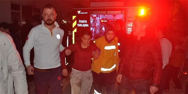 Bursa'da yangın: Hastanelik oldular