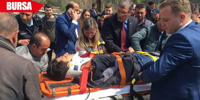 Kazada yaralanan gence ilk müdahale CHP'li vekilden