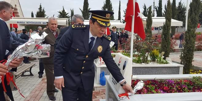 Polis haftası Bursa'da dualarla kutlandı