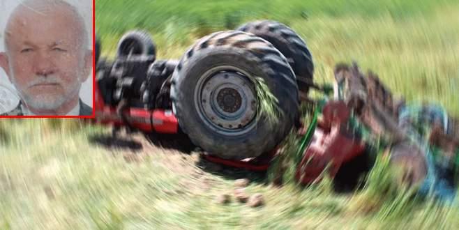 Bursa'da traktör devrildi: 1 ölü, 1 yaralı