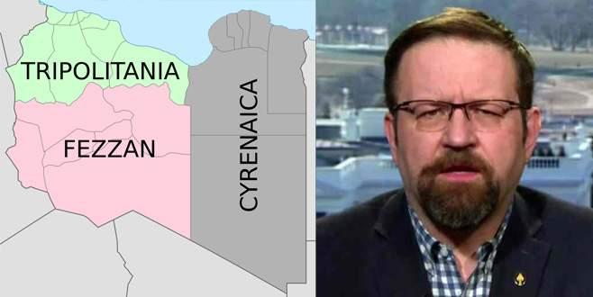 Peçete üzerinde Libya'yı paylaştı