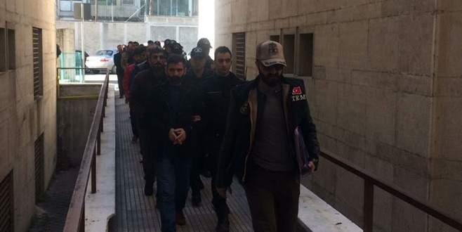 Bursa'da PKK operasyonunda gözaltına alınan 20 kişi adliyede