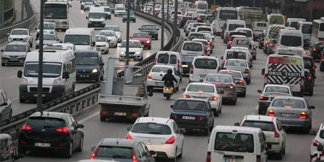 Bursa'da araç sayısı 790 bini geçti
