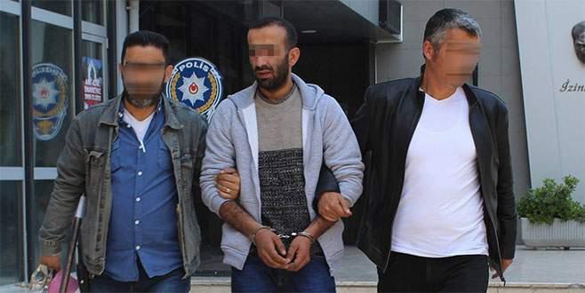 Suç makinesi önce kameraya, sonra polise yakalandı