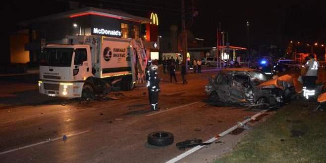 3 ölümlü kazada çöp kamyonu sürücüsüne 15 yıl hapis istemi