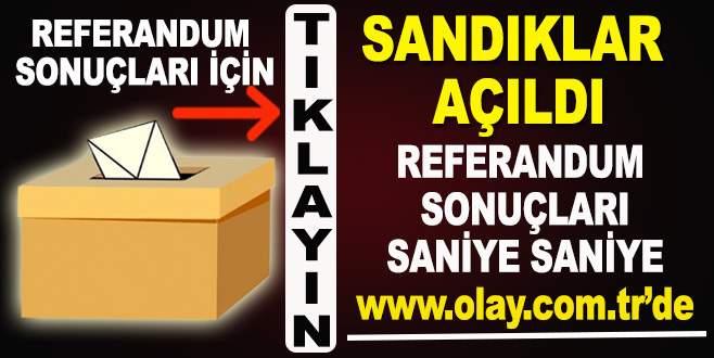 İl il referandum www.olay.com.tr'de
