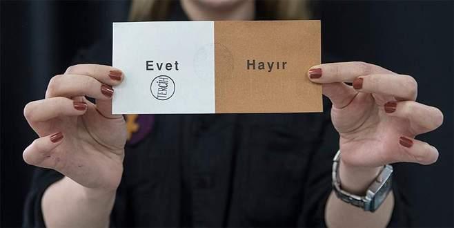 Halk oylamasının sonuçları belli oldu