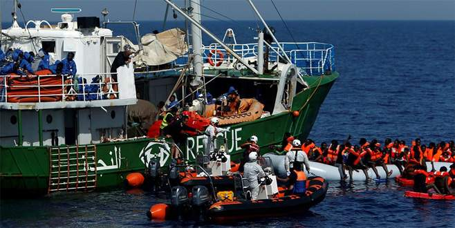 Binlerce sığınmacı kurtarıldı