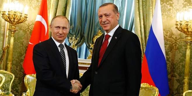 Putin'den, Cumhurbaşkanı Erdoğan'a tebrik