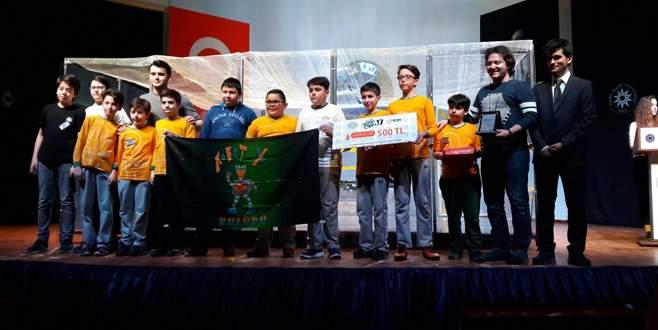 Özel Bursa Kültür Okulları'ndan robot yarışmasında birincilik