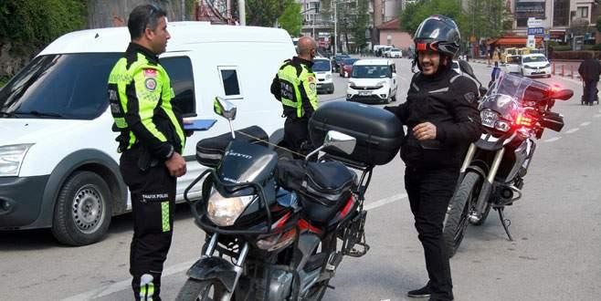 Bursa'da trafik ekiplerinden motosiklet operasyonu!