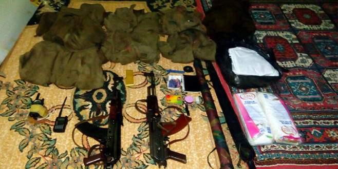 PKK'lılar silahları bakın nereye gizlemiş