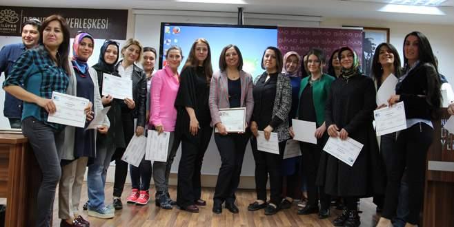 Girişimci kadınlara sertifika