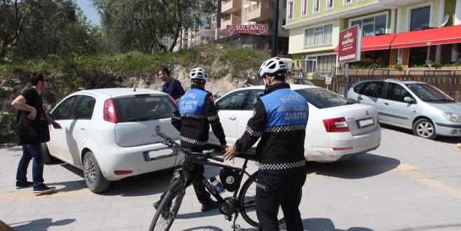 Nilüfer'de yaya ve bisiklet yolu işgaline geçit yok