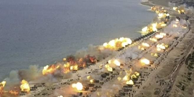 Yüzlerce tank ateş açtı