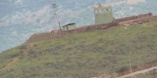 Hassa'dan Suriye'deki PYD karakoluna top mermisi atışları sürüyor