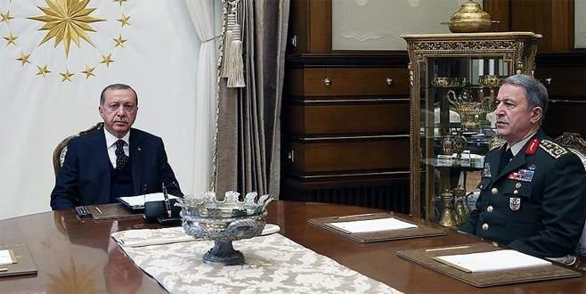 Erdoğan Genelkurmay Başkanı Akar'ı kabul etti