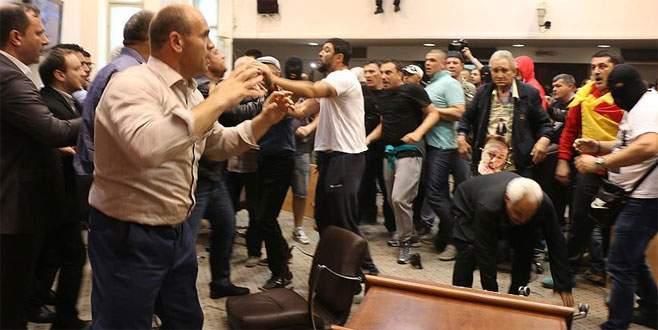 Makedonya Meclisi'nde olaylar çıktı