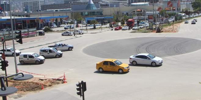 Bursa'da trafiği rahatlatan kavşak düzenlemesi